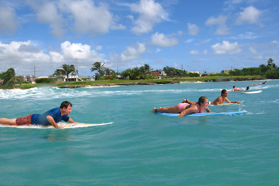 Learning to Surf in Barbados
