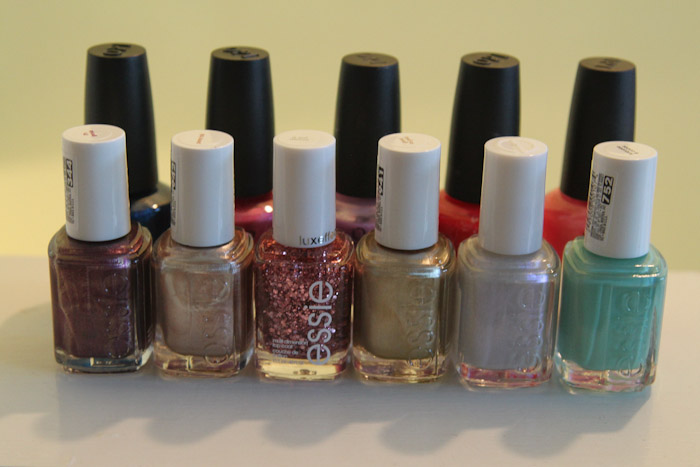 Essie and OPI nail polish