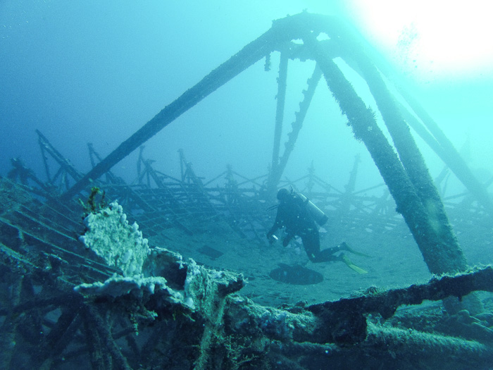 Vandenberg wreck dive, Key West, Florida