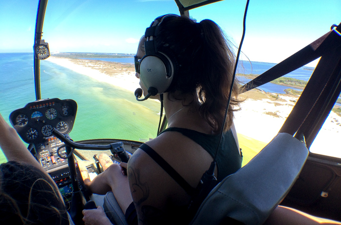Panama City Beach flight with Panhandle Helicopter