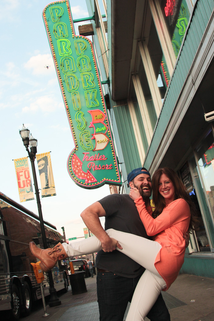 Downtown Nashville Engagement Shoot in Nashville, Tennessee
