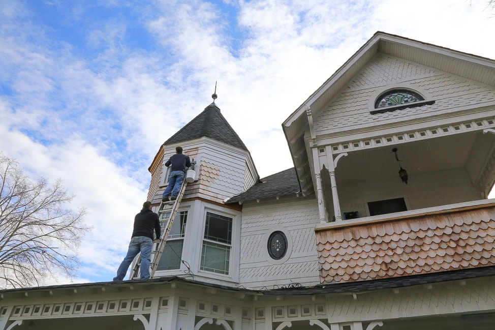 Our Victorian Home | Painting our old Queen Anne house.