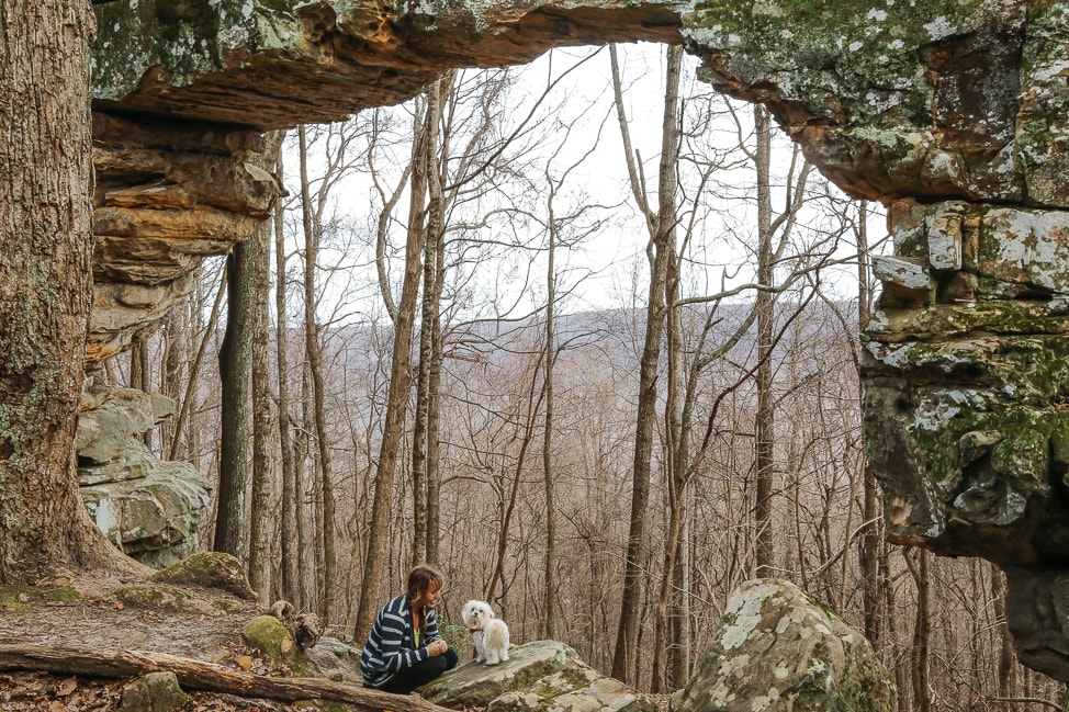 Hiking with Dogs: Sewanee's Natural Bridge in Tennessee