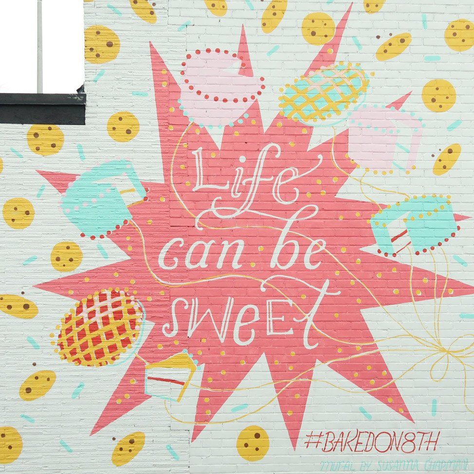 Life Can Be Sweet mural in Nashville