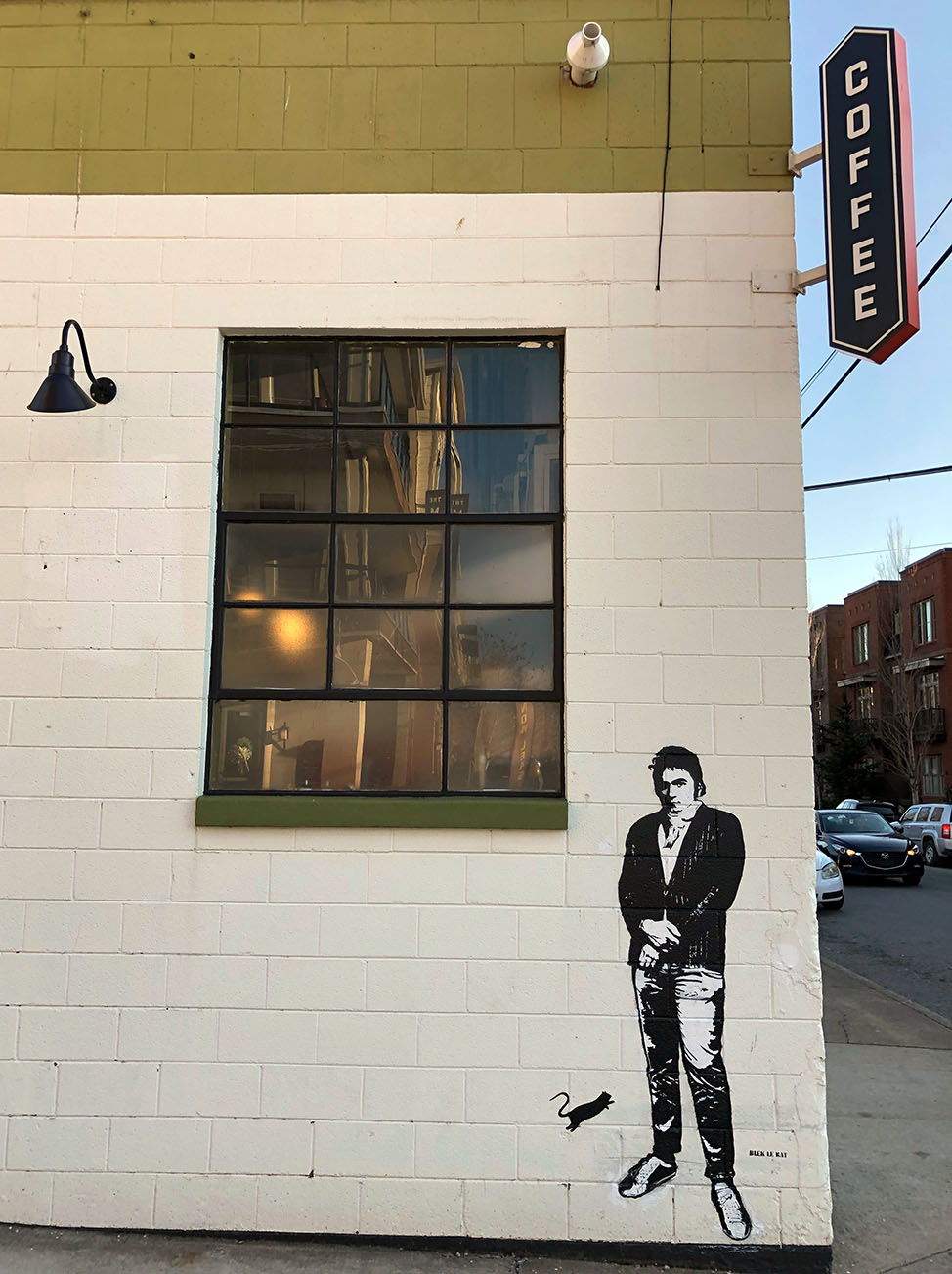 Blek Le Rat Mural of Beethoven in Nashville