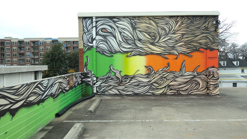 Elliston Parking Garage murals in Nashville