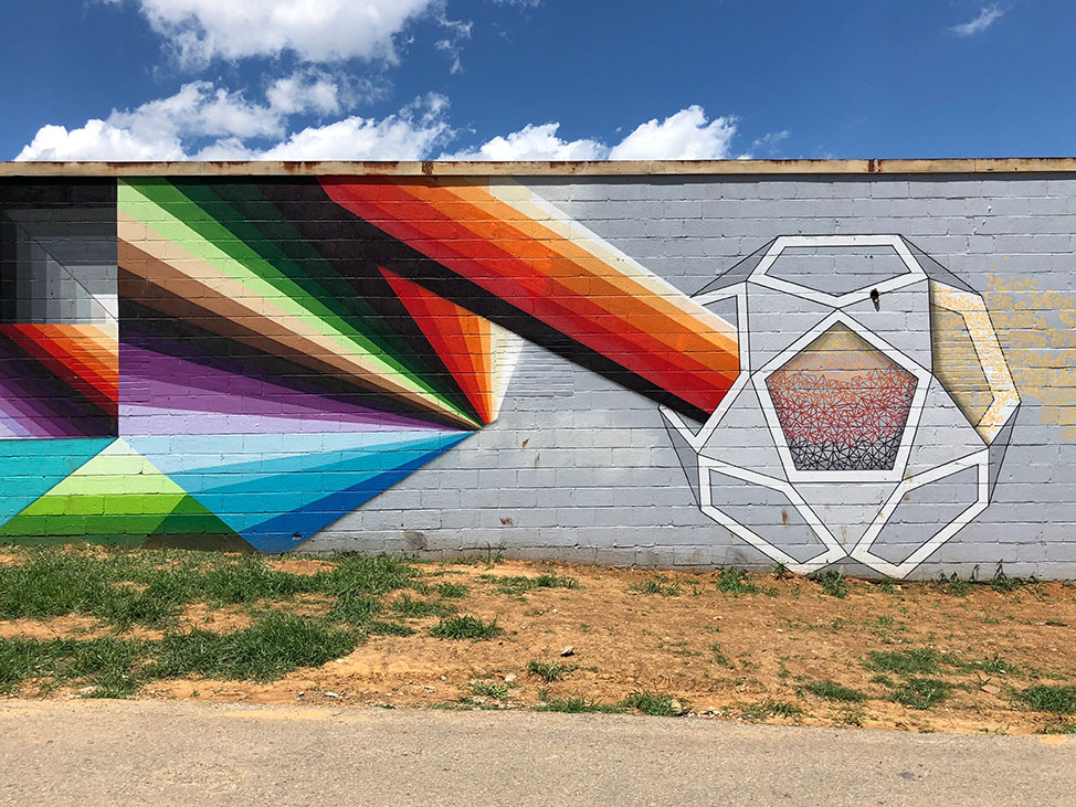 Chris Zidek + Nathan Brown mural in Nashville