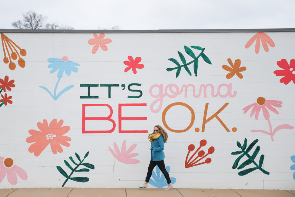 It's Gonna Be OK mural in Nashville by Sarah Tate