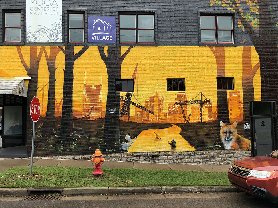 Fox Mural in Nashville's 12South