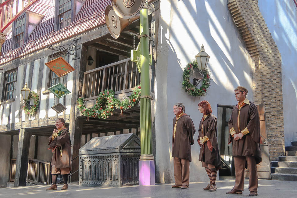 Universal Holiday Performance at Diagon Alley