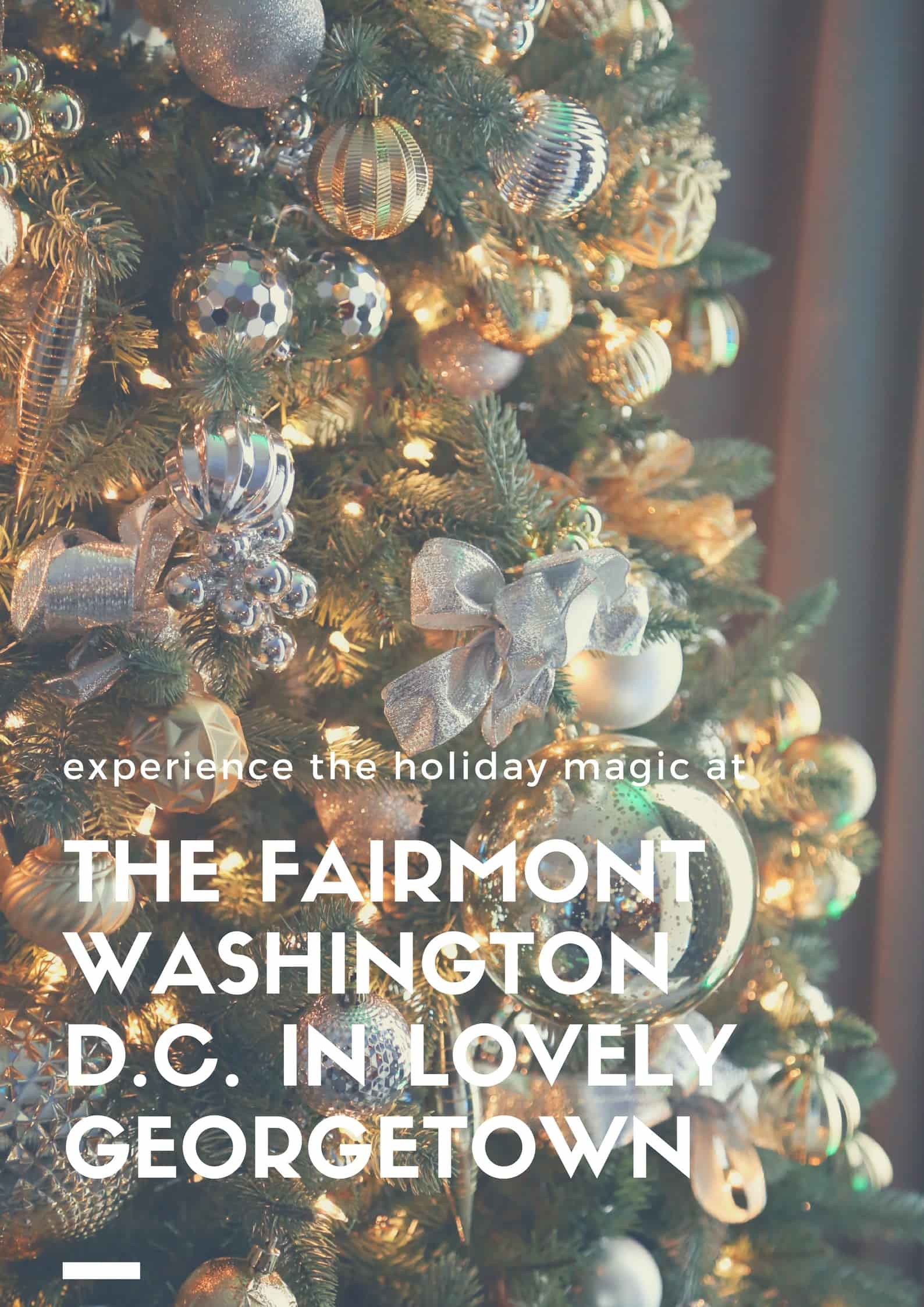 The Fairmont Washington DC at Christmastime