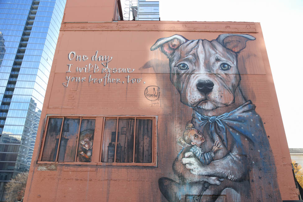 Downtown Dog Mural in Nashville