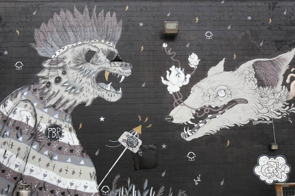 Crying Wolf mural in East Nashville
