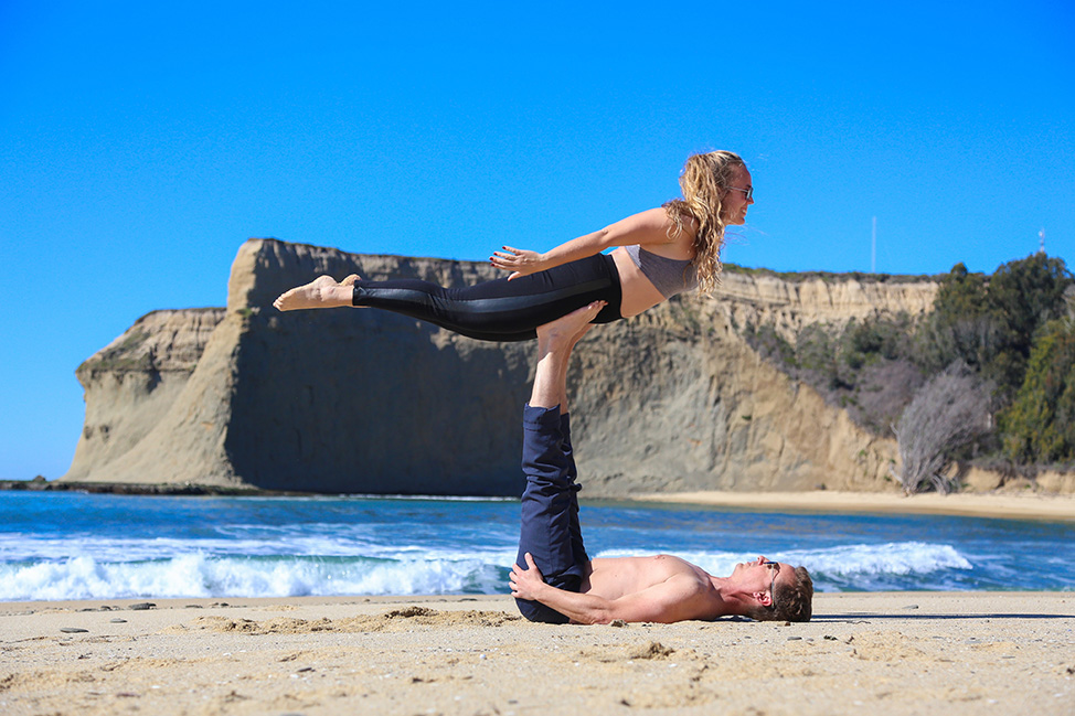 AcroYoga on Half Moon Bay