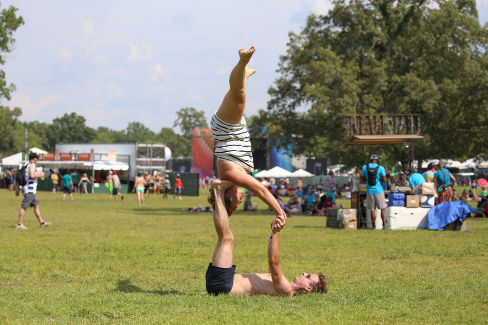AcroYoga at Bonnaroo Music Festival