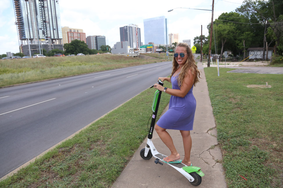 Scooters in East Austin