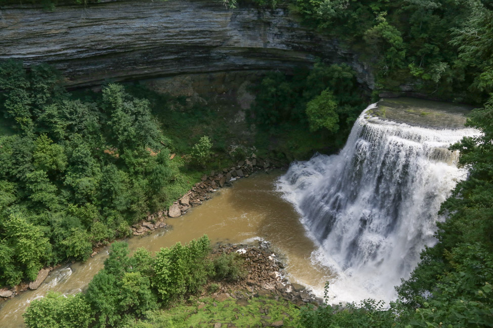 Hiking Burgess Falls in Tennessee