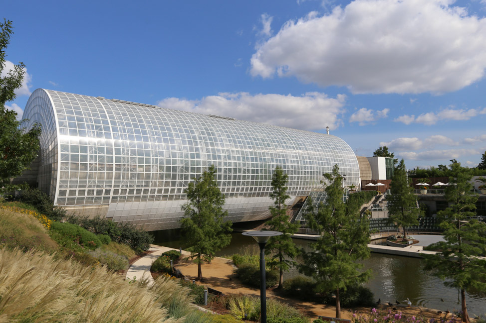 Inside Crystal Bridge at Myriad Gardens