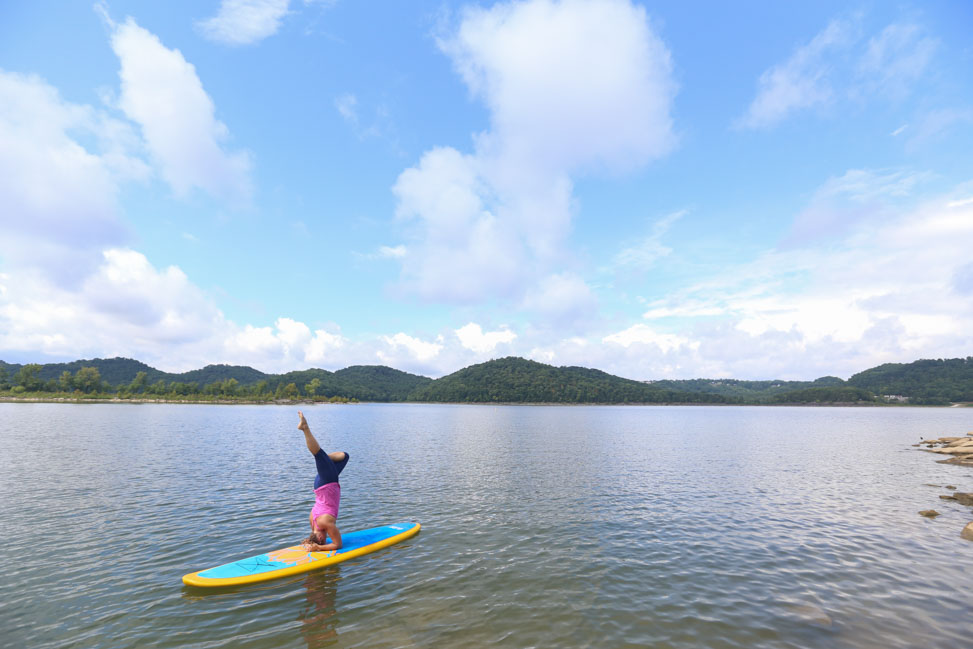 SUP at Center Hill Lake, Tennessee