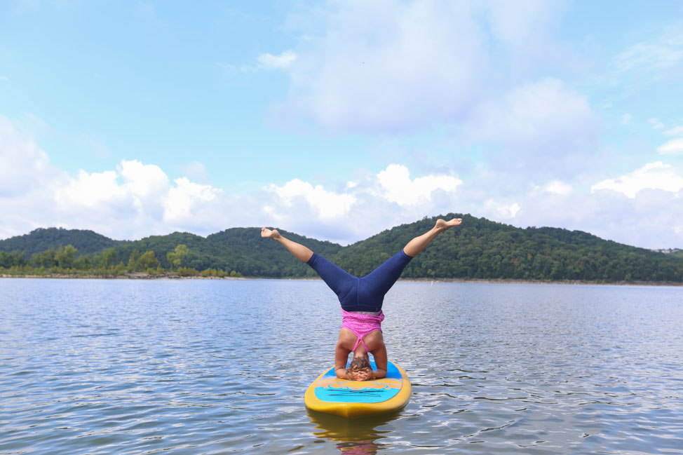 SUP Yoga on Center Hill Lake
