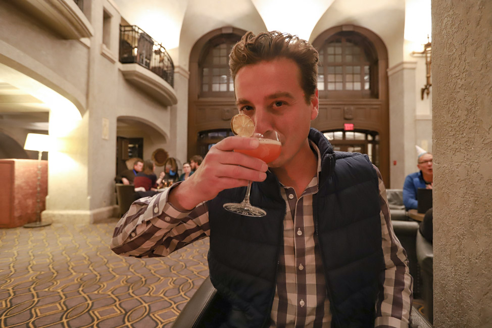 Drinks at the Fairmont Banff Springs