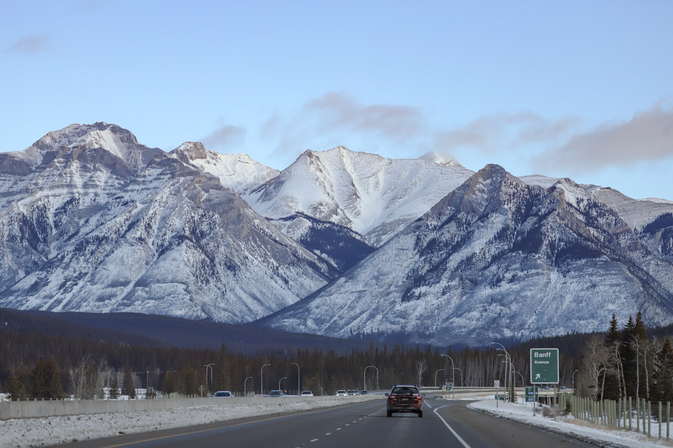 Driving to Banff from Calgary