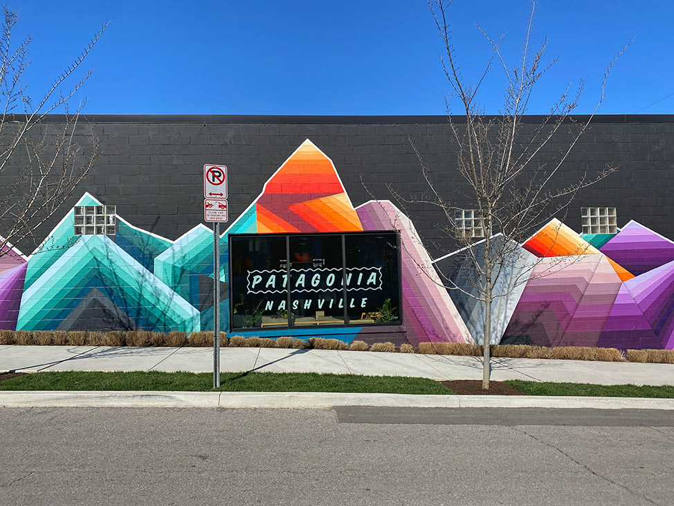 Patagonia mural in Nashville by Nathan Brown