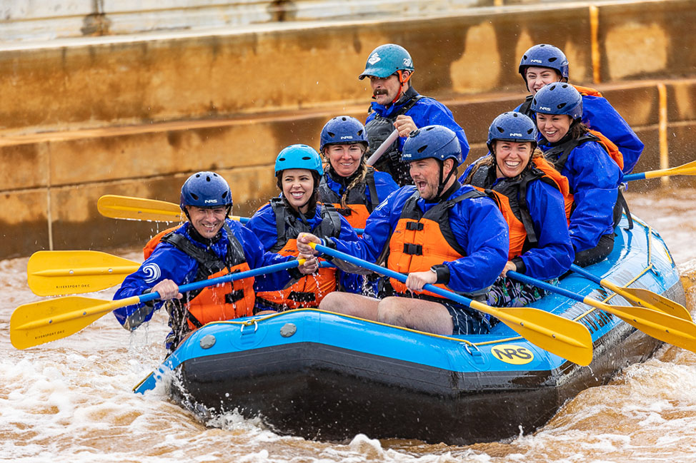 Rafting at Riversport in OKC