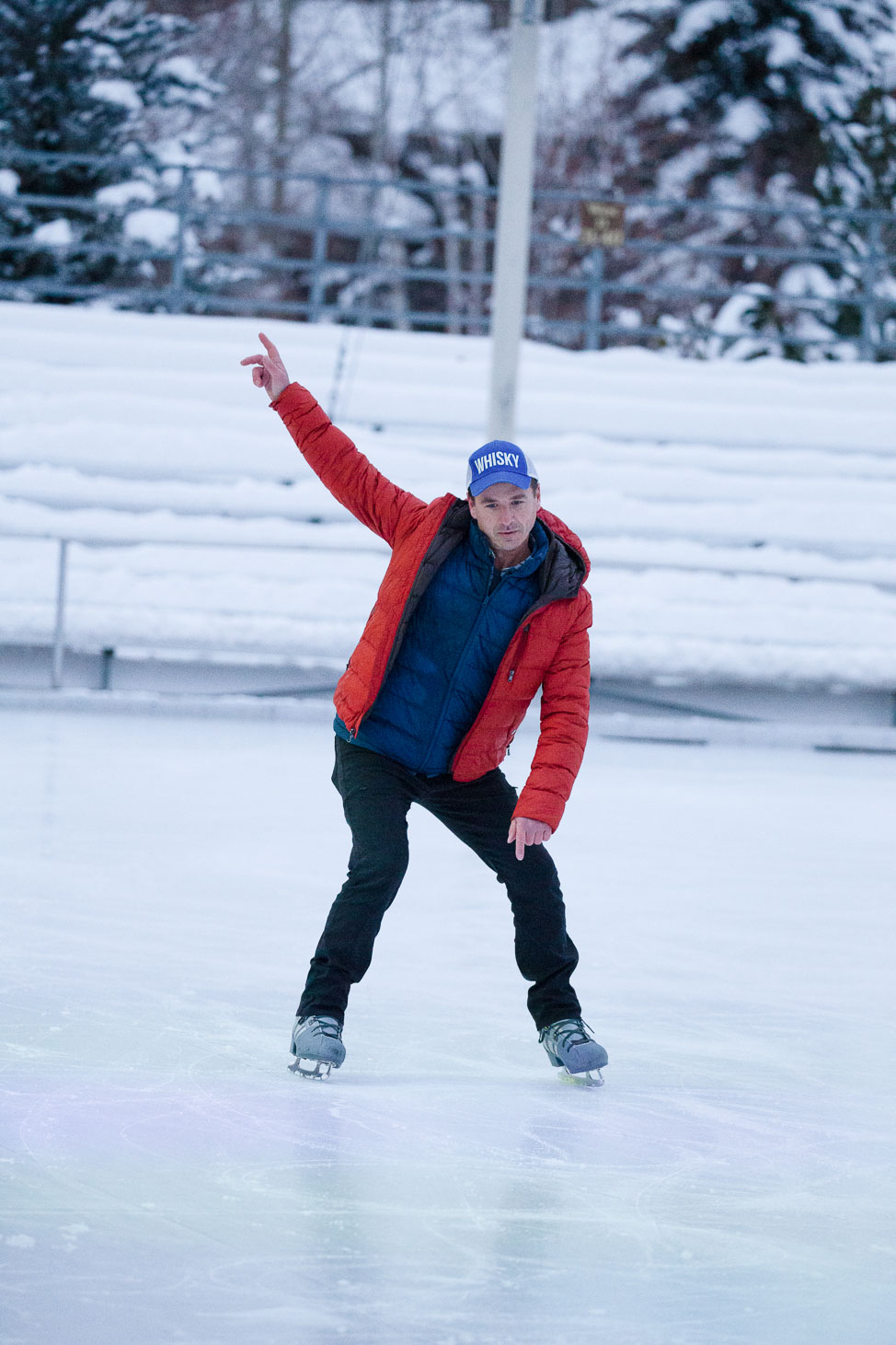 Ice-skating in Sun Valley, Idaho