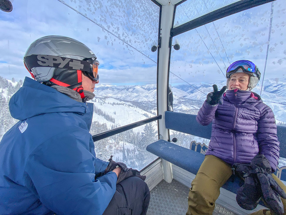 Skiing at Bald Mountain in Sun Valley, Idaho