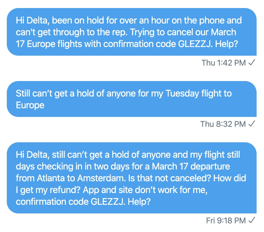 How to get in touch with Delta online