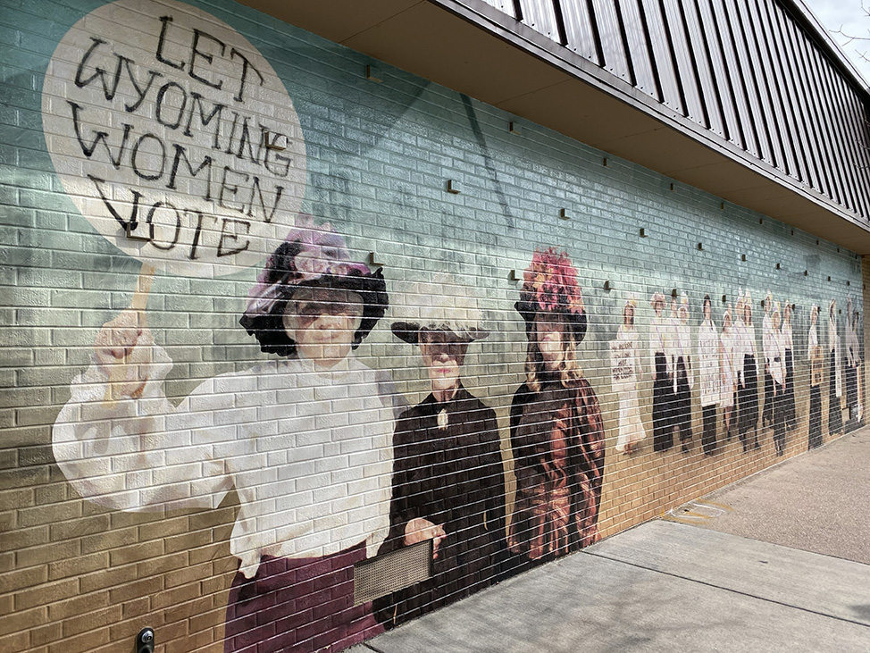 Women's Suffrage Mural in Wyoming
