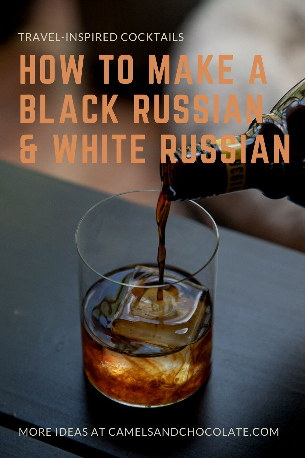 Making a Black Russian: a cocktail recipe