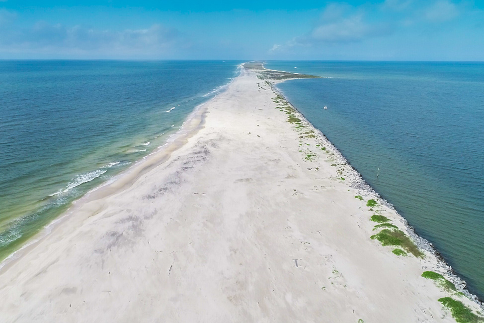 An Aerial Shot of Dauphin Island, Alabama (copyright: Kristin Luna)