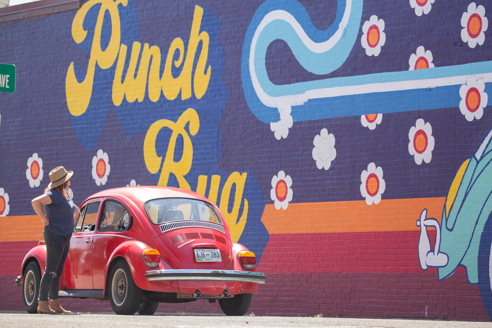 Punch Bug mural in Centerville by Whitney Herrington