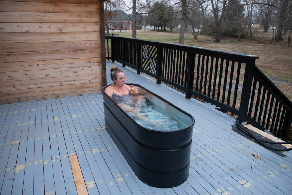 How to build a stock tank hot tub